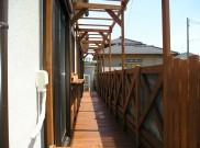 狭いところこそウッドデッキやパーゴラが効果的 横浜市T様邸