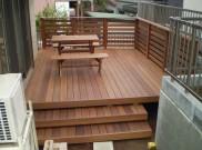 ウリン材のウッドデッキと手造りウッド家具 横浜市N様邸