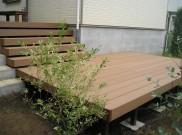 段違い人工木材ウッドデッキ TOEX製品使用 川崎市 Y様邸