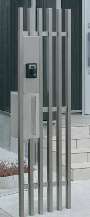 デザイン門柱格子 エバーアートウッド タカショー1