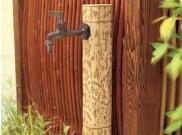 図面竹 ガーデン水栓柱 タカショー