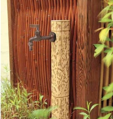 図面竹 ガーデン水栓柱 タカショー1
