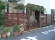 植物のゲートから枕木のゲートに、ウッド外構 横浜市K様邸