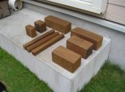 天然木の積木?ただの端材です。