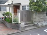 旧大谷石を一部利用した外構工事 横浜市Y様邸