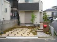自然素材を利用したオープン外構 横浜市 S様邸