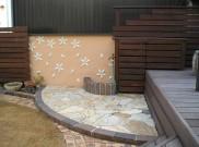 お庭にユーティリティースペース 横浜市M様邸