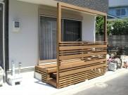 便利なフレームの付いたウッドデッキ 横浜市戸塚区 Y様邸