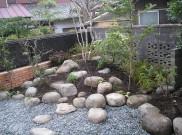ちょっと和風な雰囲気のロックガーデン 鎌倉市M様邸