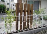 サーモウッドを使用した部分目隠し 横浜市 Y様邸