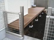 サーモウッドを使用したシンプルなウッドデッキ 横浜市青葉区S様邸