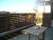 既存アルミフェンスを外して、ウッドフェンスに 横浜市I様邸
