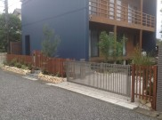 自然素材にこだわった外構工事  鎌倉市N様邸